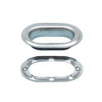Set 10 Capse ovale, Covertex, metal, 42 x 22 mm